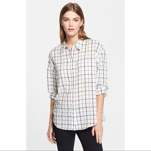 NWT Elizabeth and James checked shirt Size Small S